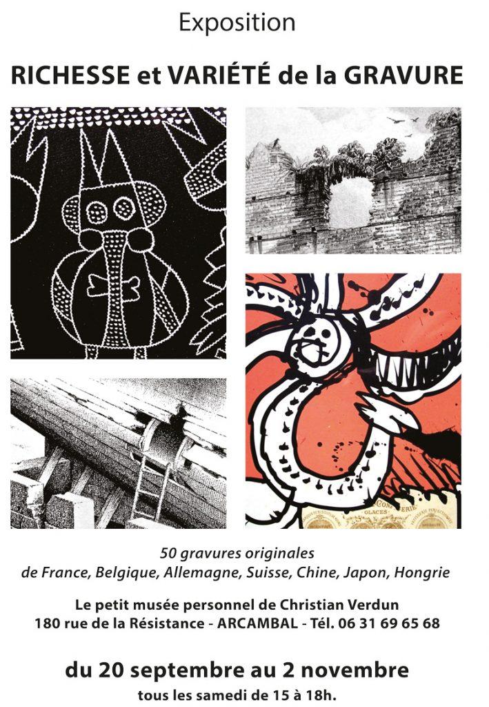 Affiche de l'exposition de gravures