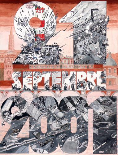 "AZF ""NH4-NO3""Planche illustrée."