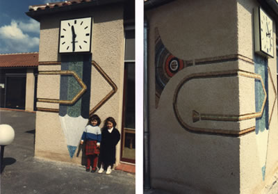 Mosaïque murale - crayon trombone - 1% Groupe scolaire