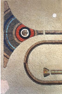 Mosaïque murale - crayon trombone