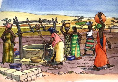 Puits au village