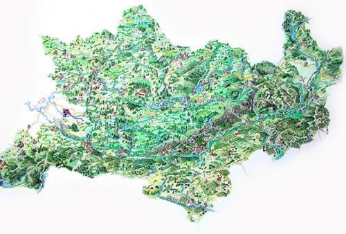 Carte Vue aérienne