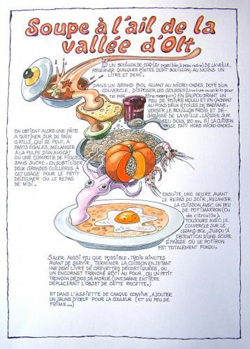 Illustration pour un ouvrage sur la gastronomie quercinoise