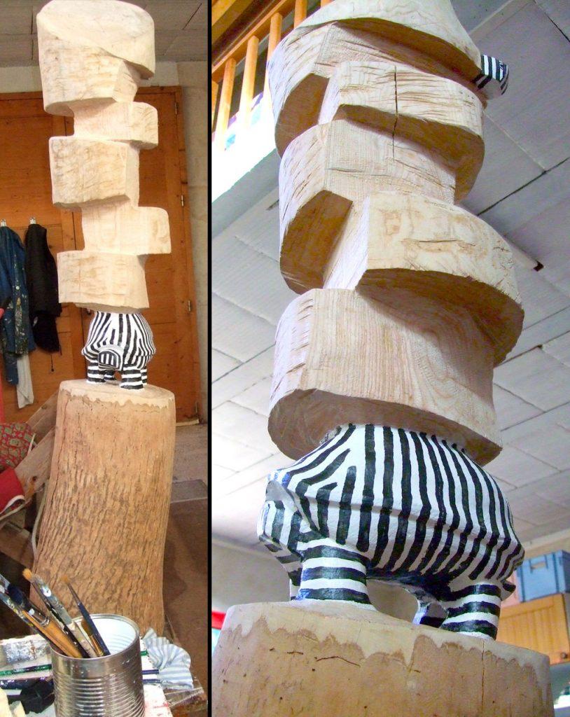 nouvelle sculpture bois polychrome