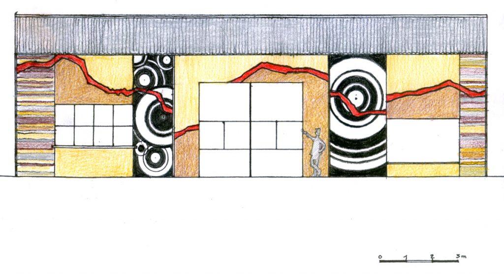 Projet de mosaique sur la façade du musée