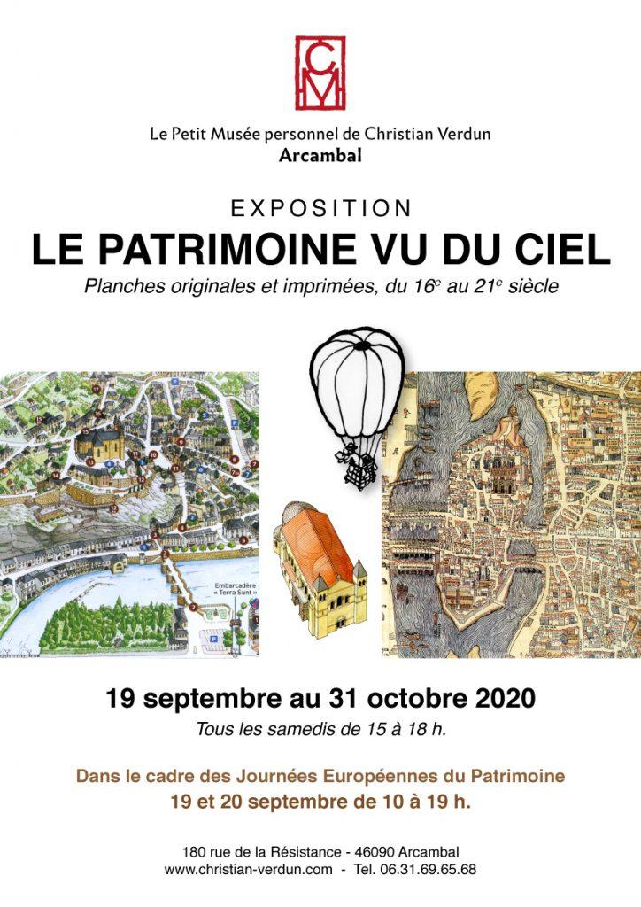 Affiche expo Le Patrimoine vu du ciel