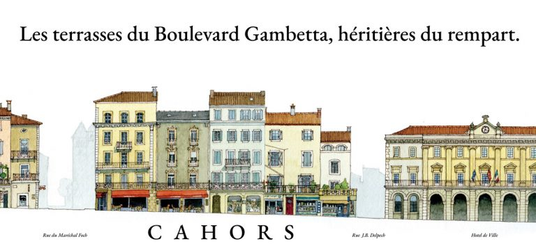 Aquerelle Bd Gambetta Cahors