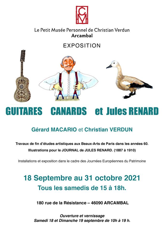 Affiche Expo Guitares Canards Renard