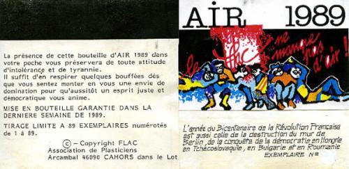 """Etiquette bouteille """"AIR 1989"""""""