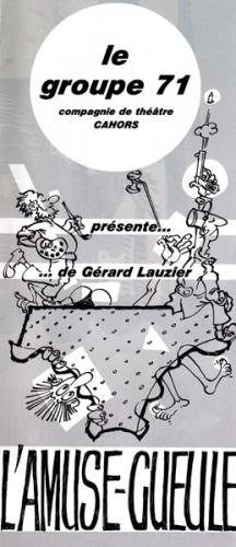 """"""" L'amuse gueule """" de LauzierAffiche théatre"""