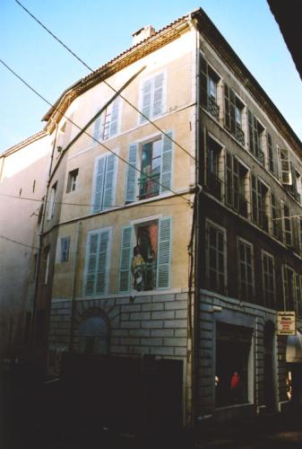 Mur en trompe-l'œil - Cahors
