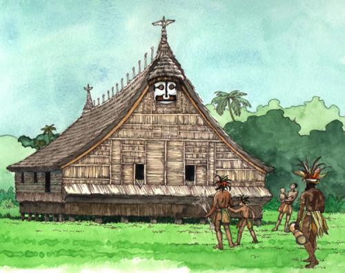 Les Papous - la Maison des ancêtres