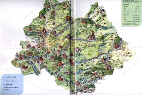 Carte Nord Midi-Pyrénées