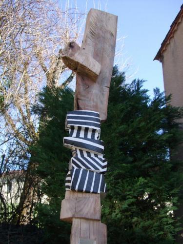 Sculpture bois monoxyle polychrome