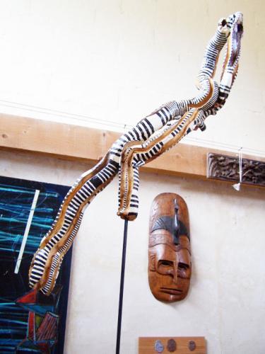 Sculpture en bois polychrome